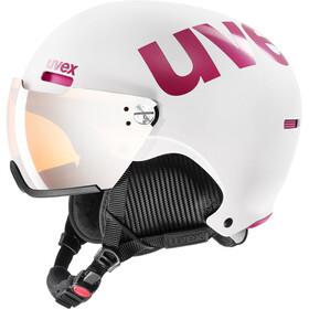 UVEX hlmt 500 Visor Helm, white-pink mat
